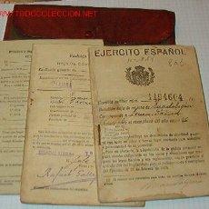 Documentos antiguos: CARTILLA MILITAR CON 3 DOCUMENTOS, REGIMIENTO BADAJOZ 73.. Lote 19159721