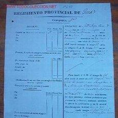 Documentos antiguos: DOCUMENTO DEL REGIMIENTO PROVINCIAL DE GUÍA, 1840. Lote 6631394