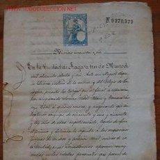 Documentos antiguos: DOCUMENTO COMPRA DE UN PISO, 1876. Lote 7183327