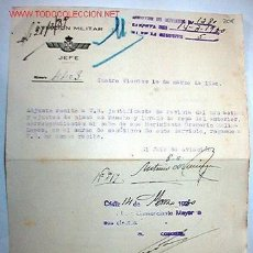 Documentos antiguos: DOCUMENTO AVIACIÓN MILITAR JEFE, 1930. Lote 9204635