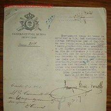 Documentos antiguos: DOCUMENTO DE LA ESCUELA CENTRAL DE TIRO, INFANTERÍA, AÑO1926. Lote 14207679