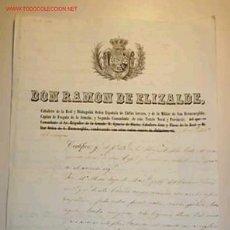 Documentos antiguos: HOJA DE SERVICIO DE MARINO,CONCEDIDO POR DON RAMON DE ELIZALDE. AÑO 1856. Lote 9556926