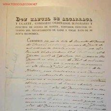 Documentos antiguos: CERTIFICADO DE LICENCIA ABSOLUTA,AL GRUMETE PEDRO FODORIS,EN SAN FERNANDO,CADIZ EL 24/05/1843. Lote 10292910