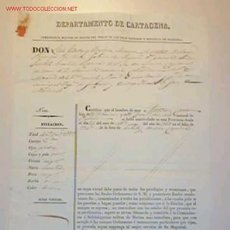 Documentos antiguos: CERTIFICADO DE AFILIACION ,PALMA ,24 DE ABRIL DE 1839. Lote 8074434