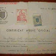Documentos antiguos: CERTIFICADO MÉDICO OFICIAL DE LA REPÚBLICA. Lote 21626131