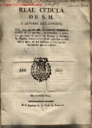 2 DOCUMENTOS RELACCIONADOS 1801 - 1802 ... 1ºCEDULA DE S.M Y 2º REAL ORDE DE S.M. (Coleccionismo - Documentos - Otros documentos)