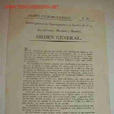 Documentos antiguos: PARTE DE GUERRA, 1813. Lote 14790130