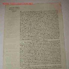 Documentos antiguos: DOCUMENTO DE CAPITANÍA GENERAL DEL EJÉRCITO Y PRINCIPADO DE CATALUÑA. Lote 2674406