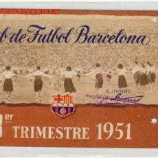 Documentos antiguos: CARNET 3ER.TRIMESTRE 1951. Lote 1328066