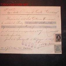 Documentos antiguos: RECIBI CON SELLO DE IMPUESTO DE GUERRA Y TIMBRE MOVIL,1899.JEREZ. Lote 652373