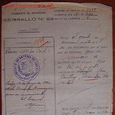 Documentos antiguos: DOCUMENTO REGIMIENTO DE INFANTERÍA SERRALLO, Nº69, 1920. Lote 5052088