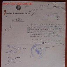 Documentos antiguos: DOCUMENTO REGIMIENTO DE AMETRALLADORAS Nº83, 1943. Lote 4246209