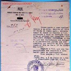 Documentos antiguos: DOCUMENTO REGIMIENTO INFANTERIA SANTA MARÍA DE LA CABEZA Nº58 MIXTO. Lote 4129714