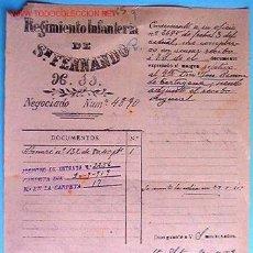 Documentos antiguos: DOCUMENTO REGIMIENTO INFANTERIA SAN FERNANDO Nº11, 1919. Lote 4642059