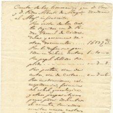 Documentos antiguos: ALAYOR ALAIOR MENORCA CARTA JOSE Y PEDRO ALBERTI 8 ABRIL 1841. Lote 23233785