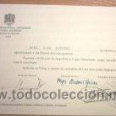 Documentos antiguos: CERTIFICACIO DE CURS D'EXTENSIO CULTURAL SUPERIOR 1955. Lote 3088338