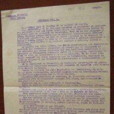 Documentos antiguos: DOCUMENTO DE 3 HOJAS SOBRE LAS NORMAS DE LA GUARDIA DE FRANCO, 1944. Lote 3140828