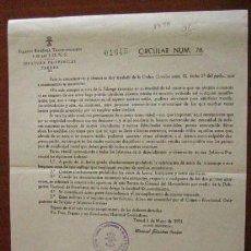 Documentos antiguos: DOCUMENTO INTERNO SOBRE CONDUCTA DE FALANGE, 1951. Lote 3149150