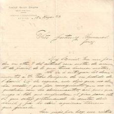 Documentos antiguos: MURCIA-CARTA COMERCIAL DE PERITO MERCANTIL FERNANDO AMOROS ZARAGOZA.-MURCIA, 15 DE MAYO DE 1917.. Lote 9514771