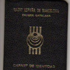 Documentos antiguos: BONITO CARNET DE RADIO ESPAÑA DE BARCELONA. Lote 19153967