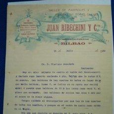 Documentos antiguos: CARTA RIBECHINI. BILBAO. Lote 3655628