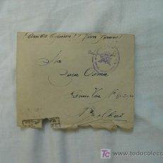 Documentos antigos: SOBRE MILITAR GUERRA CIVIL. Lote 15771408