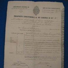 Documentos antiguos: DOCUMENTO ECONÓMICO SIGLO XIX. Lote 12946623