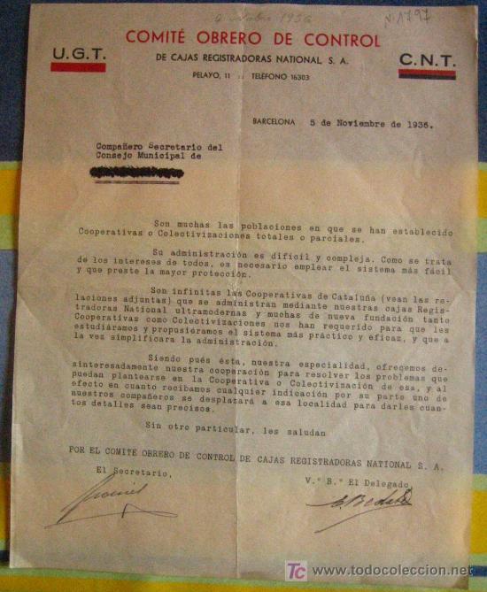 DOCUMENTO TAMAÑO FOLIO, UGT Y CNT (Coleccionismo - Documentos - Otros documentos)