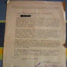 Documentos antiguos: DOCUMENTO TAMAÑO FOLIO, SINDICAT D'ARQUITECTES DE CATALUNYA, SELLOS ESTAMPADOS CNT Y UGT. Lote 4223747