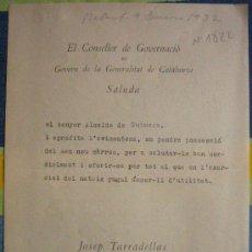 Documentos antiguos: DOCUMENTO TAMAÑO CUARTILLA, 1932. Lote 4224848