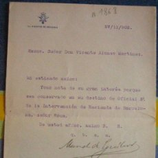 Documentos antiguos: DOCUMENTO INTERNO, MINISTERIO DE HACIENDA, 1902. Lote 4226872