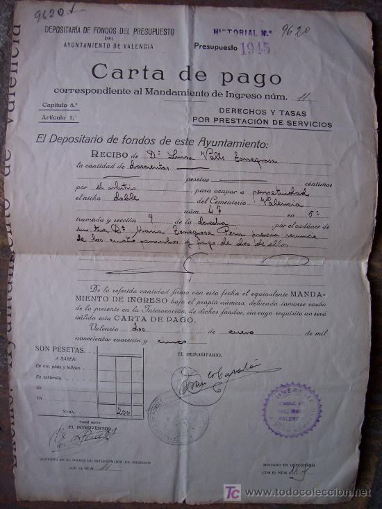 Carta De Pago Depositoria De Fondos Del Presup Comprar
