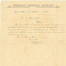 Documentos antiguos: CUATRO DOCUMENTOS SINDICATOS AGRICOLAS MALLORCA Y MENORCA AÑOS 20-30 SINEU SÓLLER MAHÓN PORRERAS. Lote 24750141