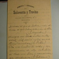 Documentos antiguos: 625 SALAMANCA ARMERIA Y GRABADOS DE SALAVERRIA Y TREVIÑO - COSAS&CURIOSAS. Lote 5382132