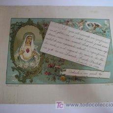 Documentos antiguos: ORLA CON POEMA 1899 - HERNANDOY COMP - 32,5 X23. Lote 21071916