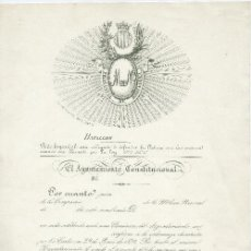 Documentos antiguos: NOMBRAMIENTO DE LA MILICIA NACIONAL. 1850. EN BLANCO.. Lote 6531305