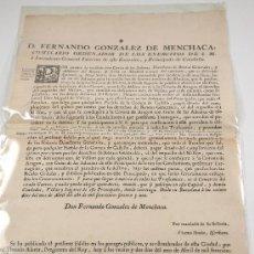 Documentos antiguos: EDICTO DE IMPUESTOS PARA CATALUÑA, 1771. Lote 22699409