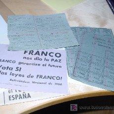Documentos antiguos: GUERRA CIVIL ESPAÑOLA. POSTGUERRA. CUPONES DE RACIONAMIENTO Y DOCUMENTOS DE VOTACIÓN. Lote 27116472