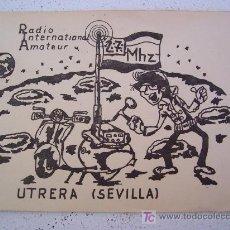 Documentos antiguos: CARNET DE RADIO INTERNATIONAL AMATEUR - UTRERA (SEVILLA) - MIS CONDICIONES DE TRABAJO 1982. Lote 20866358