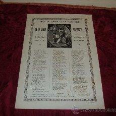 Documentos antiguos: GOIGS EN LLAHOR DE LA DEGOLLACIO DE ST JOAN BAPTISTE PATRO DE LA PARROQUIAL ESGLESIA DE SANATA . Lote 8237147