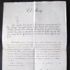 Documentos antiguos: CONCESION EMPLEO MILITAR. ALFONSO XIII. AÑO DE 1916. ENVIO GRATIS¡¡¡. Lote 26783655