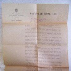 Documentos antiguos: RENFE: CIRCULAR Nº189, OBJETO CARTILLA PROFESIONAL. 1952. Lote 26463717