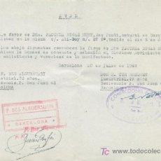 Aval de adhesión al Movimiento Nacional. 1948.