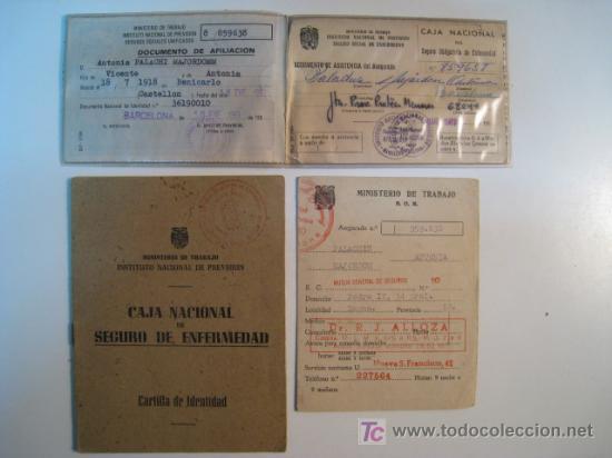 CARTILLA IDENTIDAD CAJA NACIONAL SEGURO ENFERMEDAD 1953 (Coleccionismo - Documentos - Otros documentos)