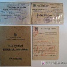 Documentos antiguos: CARTILLA IDENTIDAD CAJA NACIONAL SEGURO ENFERMEDAD 1953. Lote 9182061
