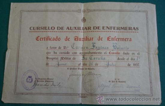documento tamaño folio, certificado de auxilio - Comprar en ...