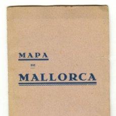 Documentos antiguos: ANTIGUO MAPA DE MALLORCA MÍNIMO 50 AÑOS EDITOR J.TOUS PALMA DE MALLORCA. Lote 26401475