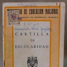 Documentos antiguos: CARTILLA DE ESCOLARIDAD SAN JOSE CALASANZ VALENCIA 1961. Lote 12779678