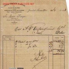 Documentos antiguos: RECIBI DE A. LEON RAYER GRAN FABRICA A VAPOR DE CAJAS DE MADERA MARCADAS AL GUSTO DEL CLIENTE.JEREZ. Lote 1055321