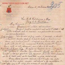 Documentos antiguos: CARTA COMERCIAL DE HOTEL SIMÓN..ALICANTE. Lote 1091153